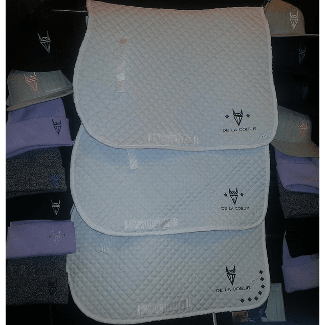 DLC White Saddle Pad