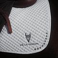 DLC White Saddle Pad