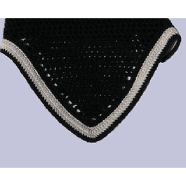 Black V Shaped Bonnet White Trim