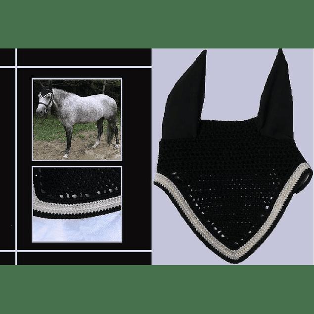 Black V Shaped Bonnet White Trim