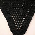 Black Tie Down Bonnet