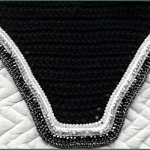 Black Triple Sparkle Bonnet