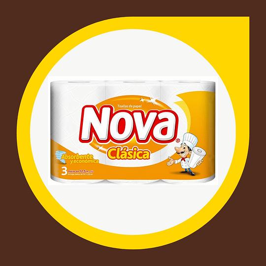 Toalla Nova Clasica 12,5mt x 3 unidades