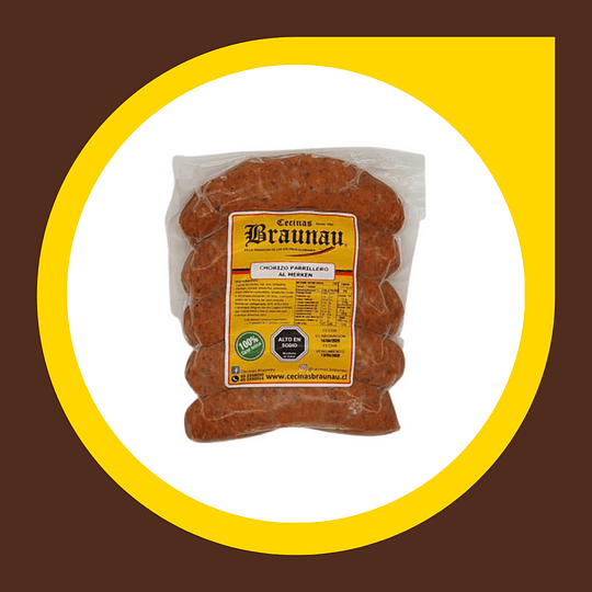 Chorizo Parrillero x 4 unidades 1/4 Kilo