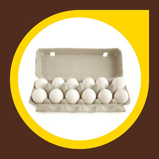 Huevos Extra Blancos 12 unidades