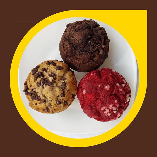 Muffins x 3 unidades