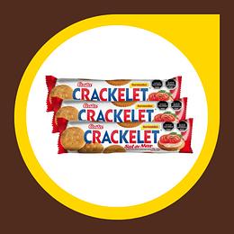 Galleta Crackelet Sal de Mar 70gr x 3 unidades