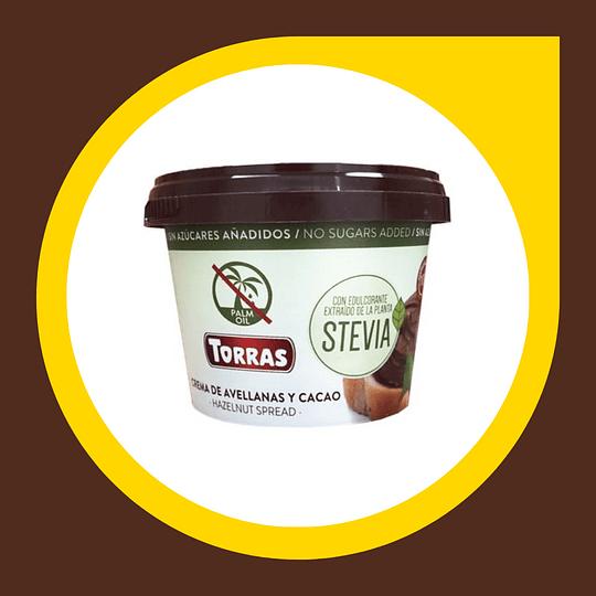 Crema de Avellanas y Cacao con Stevia 200gr