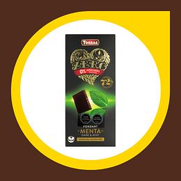 Chocolate Negro con Menta sin Gluten sin Azucar 100gr