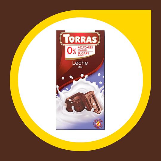 Chocolate Leche 0% Azucar 75gr