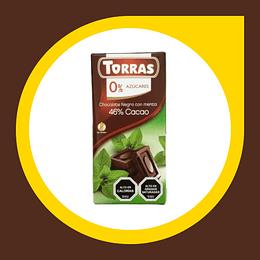 Chocolate Negro con Menta 46% Cacao 0% Azucar 75gr