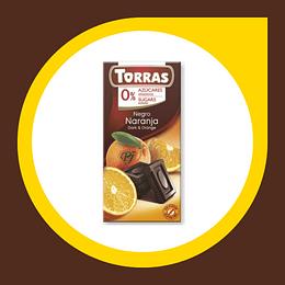 Chocolate Negro Naranja 0% Azucar 75gr