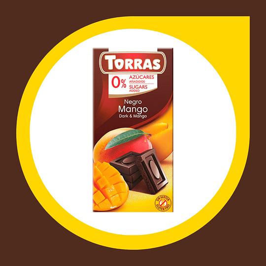 Chocolate Negro con Mango 0% Azucar 75gr
