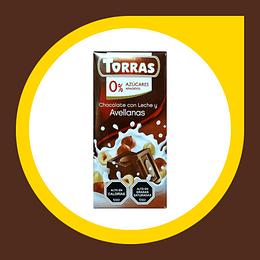 Chocolate con Leche y Avellanas 0% Azucar 75gr