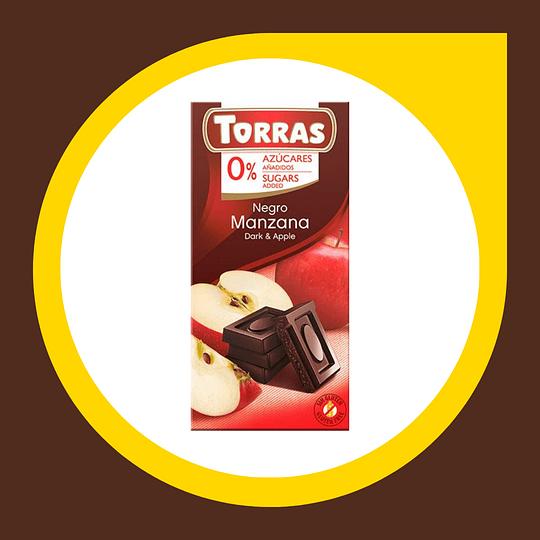 Chocolate Negro Manzana 0% Azucar 75gr