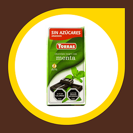 Chocolate Negro con Menta sin Gluten sin Azucar 35gr