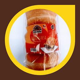 Pan para Hamburguesa x 6 unidades