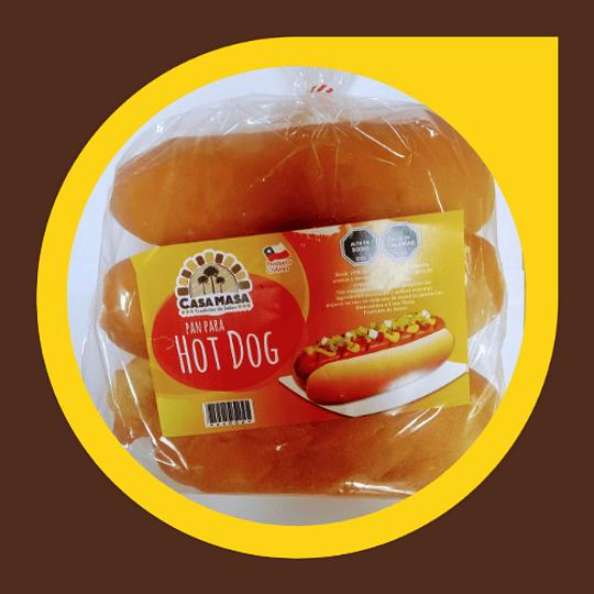 Pan para Hot Dog x 6 unidades