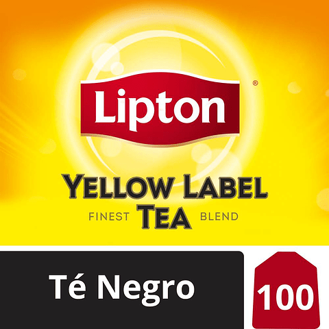 TÉ NEGRO - YELLOW LABEL TEA - 100 BOLSITAS