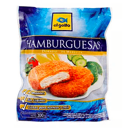 HAMBURGUESAS DE MERLUZA - 2 UNIDADES