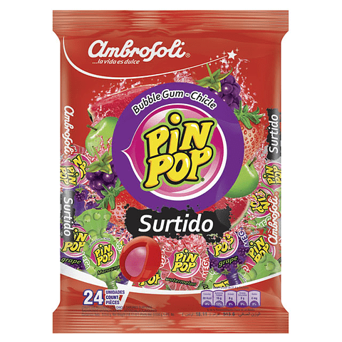 PIN POP SURTIDO - 24 UNIDADES