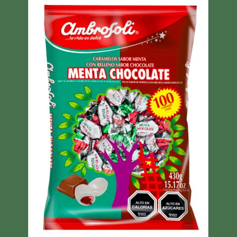 CARAMELOS MENTA CHOCOLATE - 100 UNIDADES
