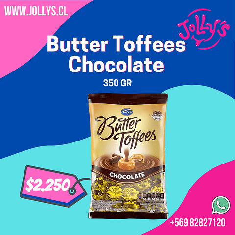 BUTTER TOFFEES CHOCOLATE - 350 GR