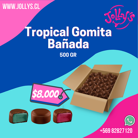 TROPICAL GOMITA BAÑADA - 500 GR