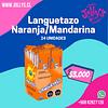 LANGUETAZO NARANJA MECANICA - 24 UNIDADES