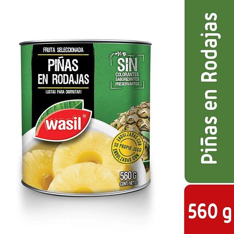 PIÑA EN RODAJA - 560GR