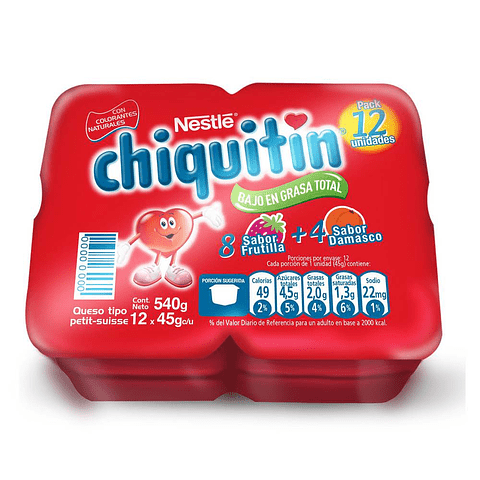 PACK CHIQUITIN - 12 UNIDADES