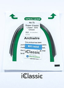 Arco Niti Super Elastic Redondo Ovoide iClassic