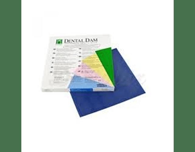 Goma Dique De Látex 6 X 6 Azul, Dental Dam
