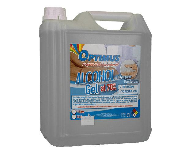 Alcohol Gel Optimus 5 Lts
