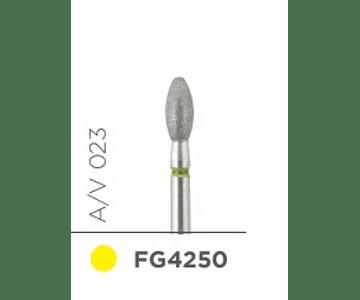 Fresa diamante p/pulido - Balon A/V 023 (aro amarillo) - Kerr