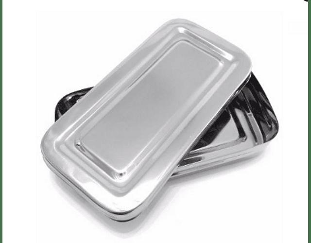 Caja metalica esterilizable 20x10x4 - importada