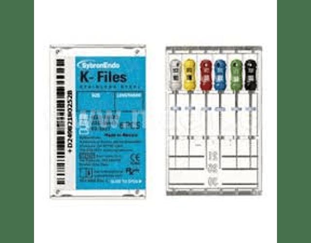 Limas K 25mm - Caja 6 Unidades - Kerr