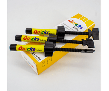 Resina Provisional Quicks yellow x 3 jeringas marca Dentkist
