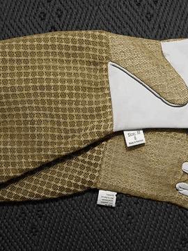 Imkerhandschuhe Typ 2, Leder mit Netzgewebe auf dem Handrücken und kurzen Stulpen