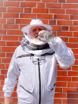 Giacca da apicoltore in cotone per le ore fredde della giornata, solo con un cappello rotondo