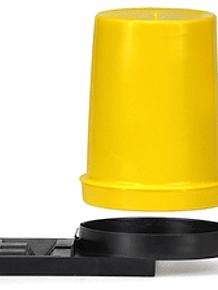 Fluglochfütterer mit durchsichtigem Behälter