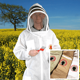 Beekeeper mesh jumpsuit with hood