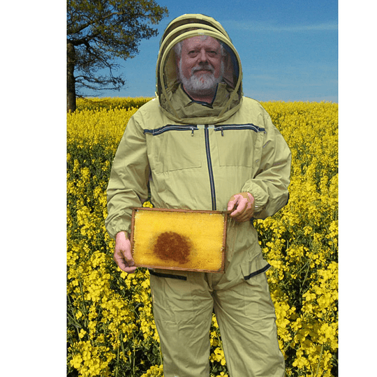 Cotton beekeeping suit with stand-up hood