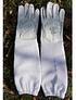 Guanti per apicoltura tipo 1, in pelle, con lunghi guanti in tessuto ventilato