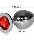 Plug de Acero Macizo de 4 cm. Diámetro