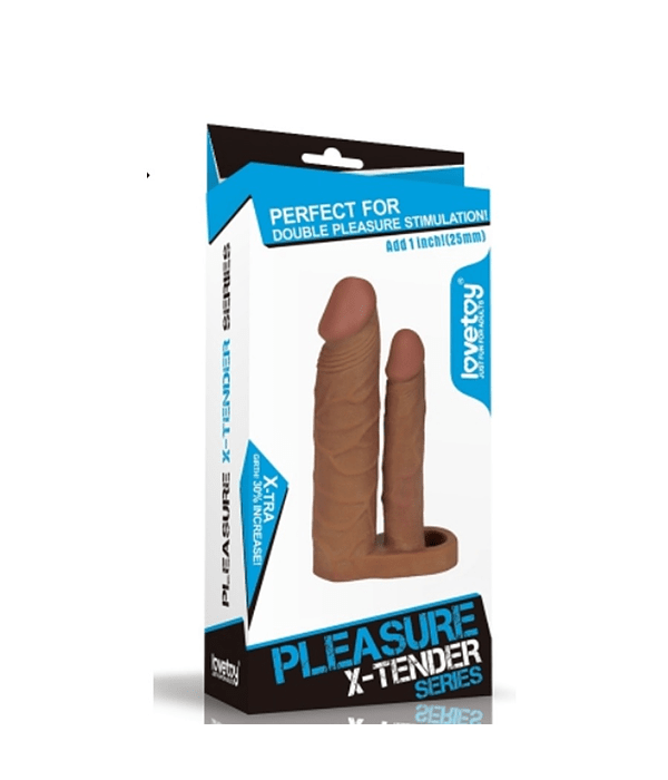 Pleasure X-Tender Funda para Doble Penetración 25 mm.