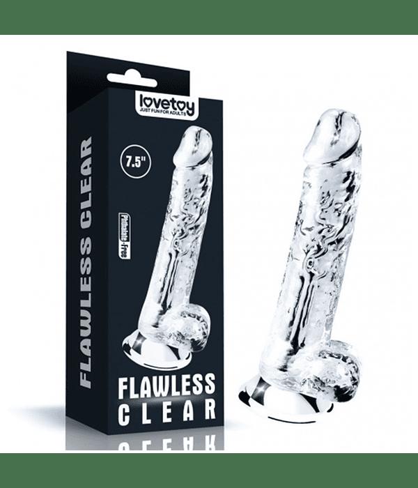 "Flawless Clear Dildo 7.5"""