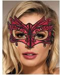 Máscara Antifaz de Encaje color Rojo