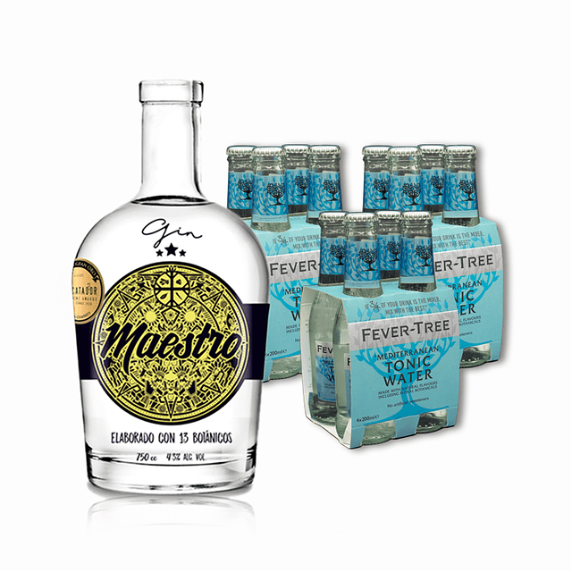 1 GIN MAESTRO + 3 MIXER 4pack FT