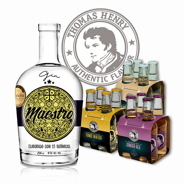1 GIN MAESTRO + 3 MIXER 4pack TH